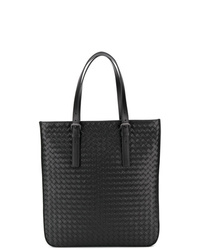Borsa shopping in pelle nera di Bottega Veneta
