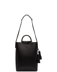 Borsa shopping in pelle nera di Building Block