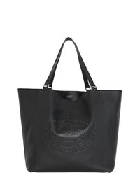 Borsa shopping in pelle nera di Burberry