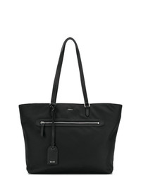 Borsa shopping in pelle nera di DKNY