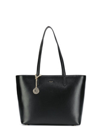 Borsa shopping in pelle nera di DKNY