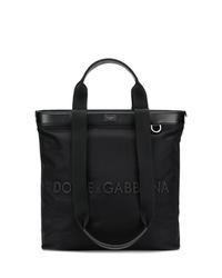 Borsa shopping in pelle nera di Dolce & Gabbana