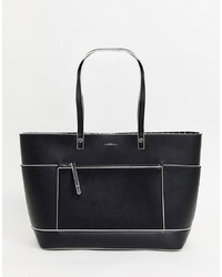 Borsa shopping in pelle nera di Fiorelli