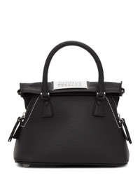 Borsa shopping in pelle nera di Maison Margiela