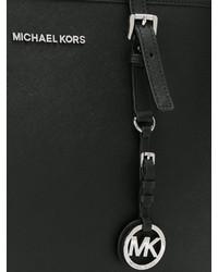 Borsa shopping in pelle nera di Michael Kors