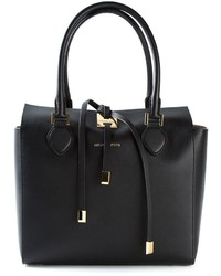 Borsa shopping in pelle nera di Michael Kors