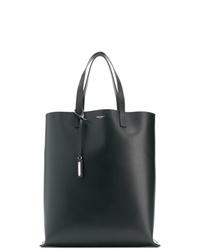 Borsa shopping in pelle nera di Saint Laurent
