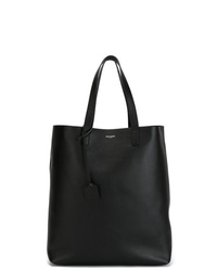 Borsa shopping in pelle nera di Saint Laurent
