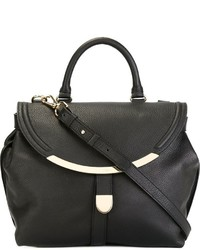 Borsa shopping in pelle nera di See by Chloe