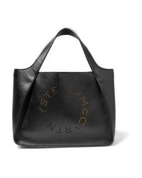 Borsa shopping in pelle nera di Stella McCartney