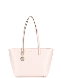 Borsa shopping in pelle rosa di DKNY