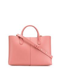 Borsa shopping in pelle rosa di Mansur Gavriel