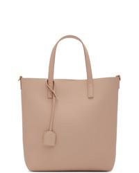 Borsa shopping in pelle rosa di Saint Laurent