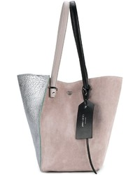 Borsa shopping in pelle scamosciata grigia di Jimmy Choo