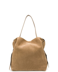 Borsa shopping in pelle scamosciata marrone di Acne Studios