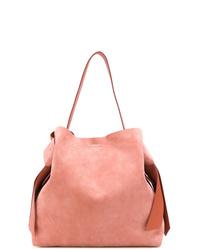 Borsa shopping in pelle scamosciata rosa di Acne Studios