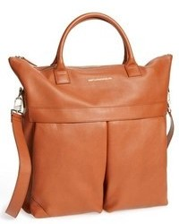 Borsa shopping in pelle terracotta