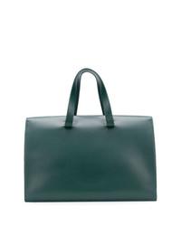 Borsa shopping in pelle verde scuro di Aesther Ekme