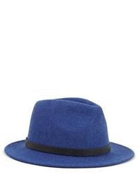 Borsalino di lana blu