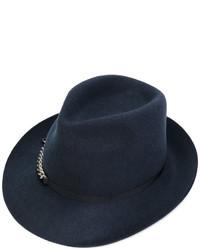 Borsalino di lana blu scuro di Stella McCartney