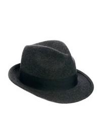 Borsalino di lana grigio scuro di Asos