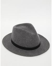 Borsalino di lana grigio scuro di Brixton
