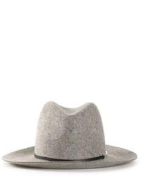 Borsalino di lana grigio di Janessa Leone