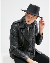 Borsalino di lana nero di ASOS DESIGN