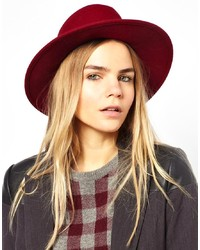 Borsalino di lana rosso di Laird