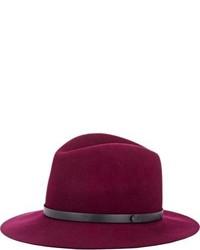 Borsalino di lana viola melanzana