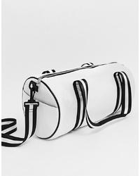 Borsone di tela bianco e nero di Yoki Fashion