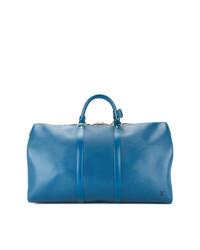 Borsone in pelle blu di Louis Vuitton Vintage