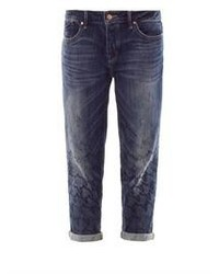 Boyfriend jeans blu scuro