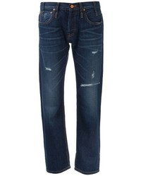 Boyfriend jeans strappati blu scuro