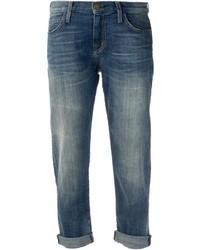 Boyfriend jeans strappati blu scuro di Current/Elliott