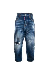 Boyfriend jeans strappati blu scuro di Dsquared2