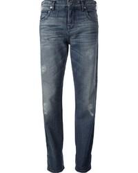 Boyfriend jeans strappati blu scuro di Roberto Cavalli