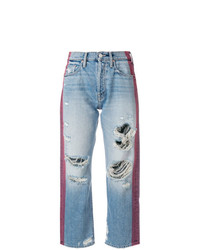 Boyfriend jeans strappati blu di Mother