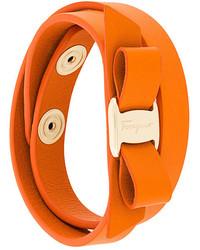 Bracciale arancione di Salvatore Ferragamo