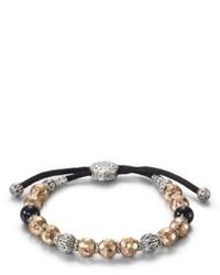 Bracciale con perline argento