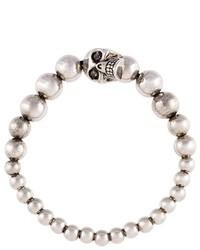 Bracciale con perline argento di Alexander McQueen