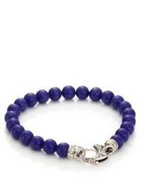 Bracciale con perline blu scuro