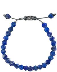 Bracciale con perline blu scuro di M. Cohen