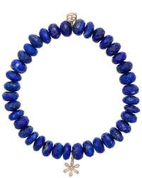 Bracciale con perline blu scuro di Sydney Evan