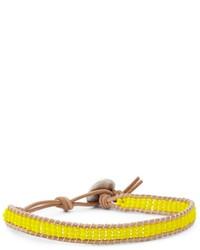 Bracciale con perline giallo