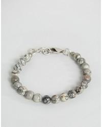 Bracciale con perline grigio di Seven London