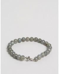 Bracciale con perline grigio di Simon Carter