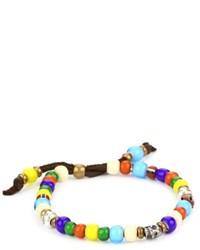 Bracciale con perline multicolore