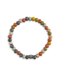 Bracciale con perline multicolore