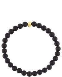 Bracciale con perline nero